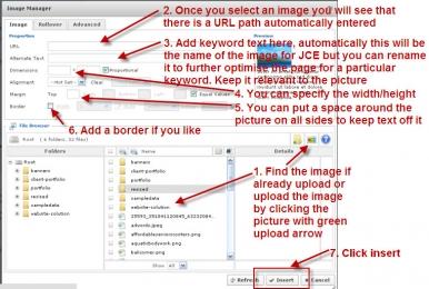Adding Images in Joomla