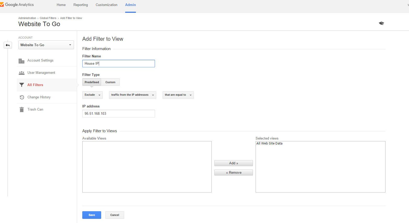 google analytics ip filter