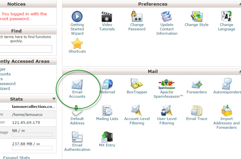 Setting Up Email Accounts in cPanel