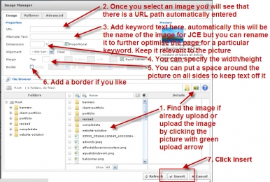 Adding Images in Joomla
