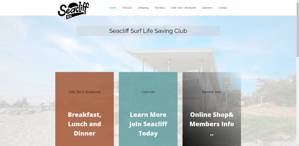 Surf Club Website Design and Support